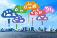 Internet of Things and Cloud Computing concept. Smart City.